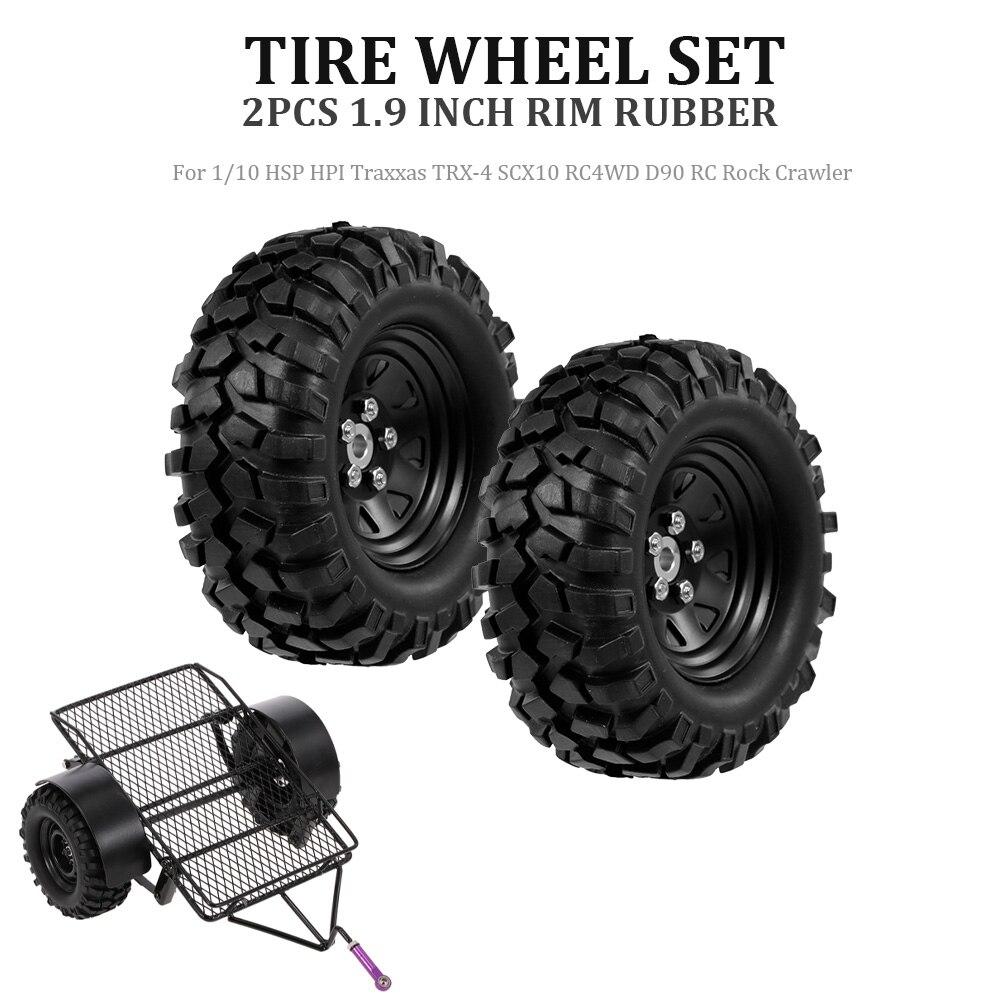 1,9 Zoll Rc Auto Gummi Reifen Reifen Rad Set Für 1:10 Hsp Hpi Traxxas Trx-4 Scx10 Rc4wd D90 Rc Rock Crawler Autos Teile