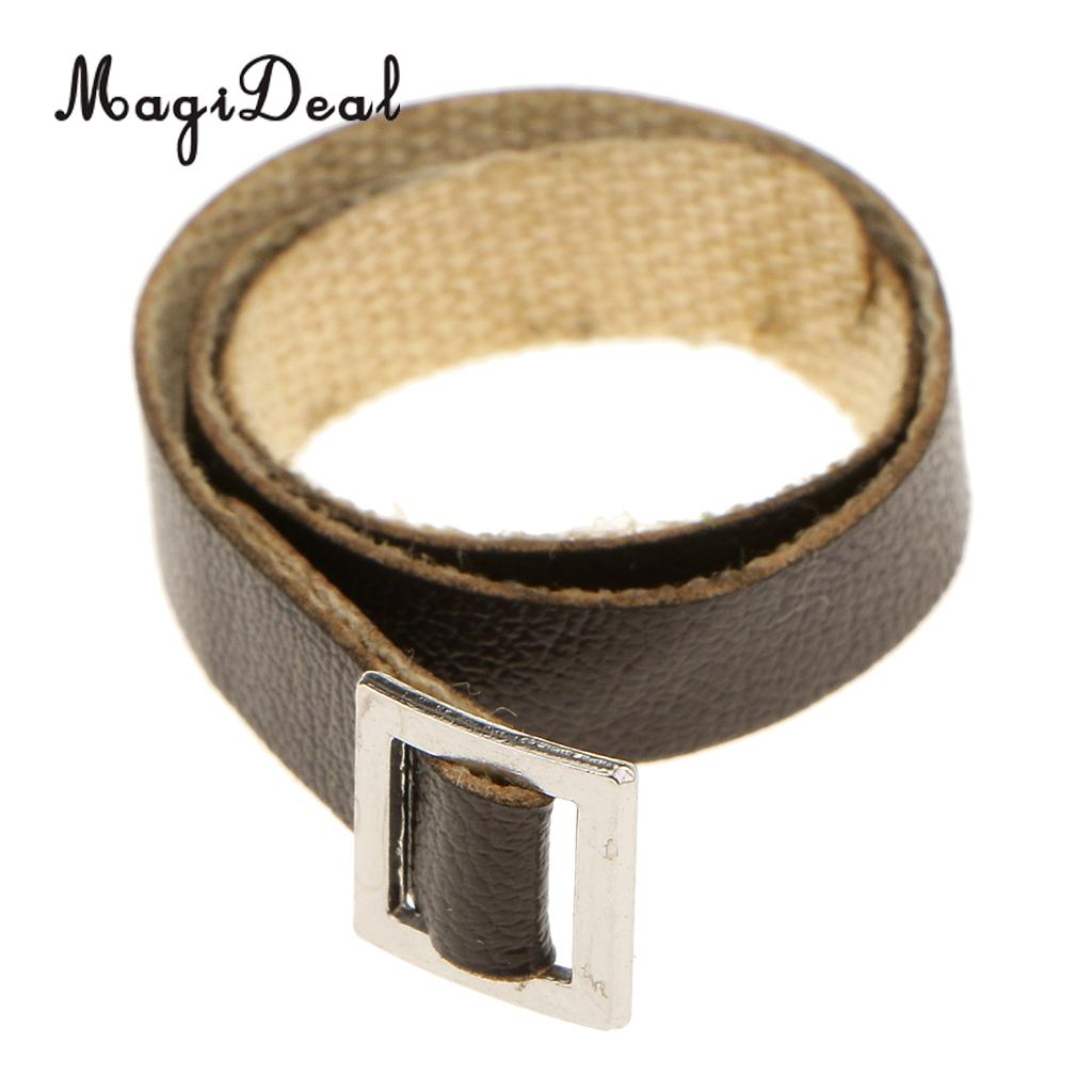 """1:6 White PU Leather Waist  belt F 12/"""" Female Male Action Figure Accessories"""