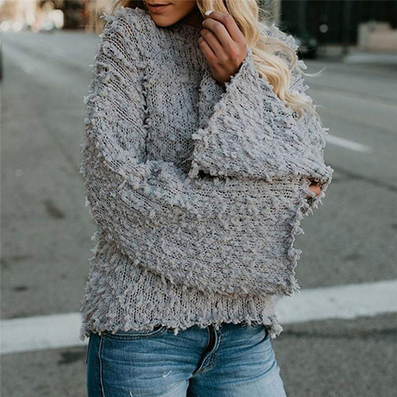 2018 Women Soft Knitted Sweater Warm Autumn Winter Sweater O Neck Long Sleeve Casual Solid Elegant Pullovers Tops