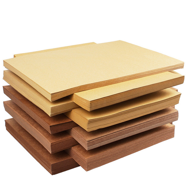 US $6 57 30% OFF|Craft Paper Card Making Cardboard High Quality A4 Brown  Kraft Paper Thick Paperboard 50 Pcs 80 300 gsm DIY Handmake-in Craft Paper