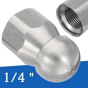 1/4 дюйма Мойка под давлением сливная канализационная очистка женское сопло струйное отверстие 1 вперед 3 задний спрей Высокое качество нержавеющая сталь 17 мм OD
