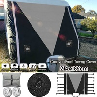 Universal Grey RV Caravan Front Towing Cover Protection with LED Lights For RV Caravan Motorhome