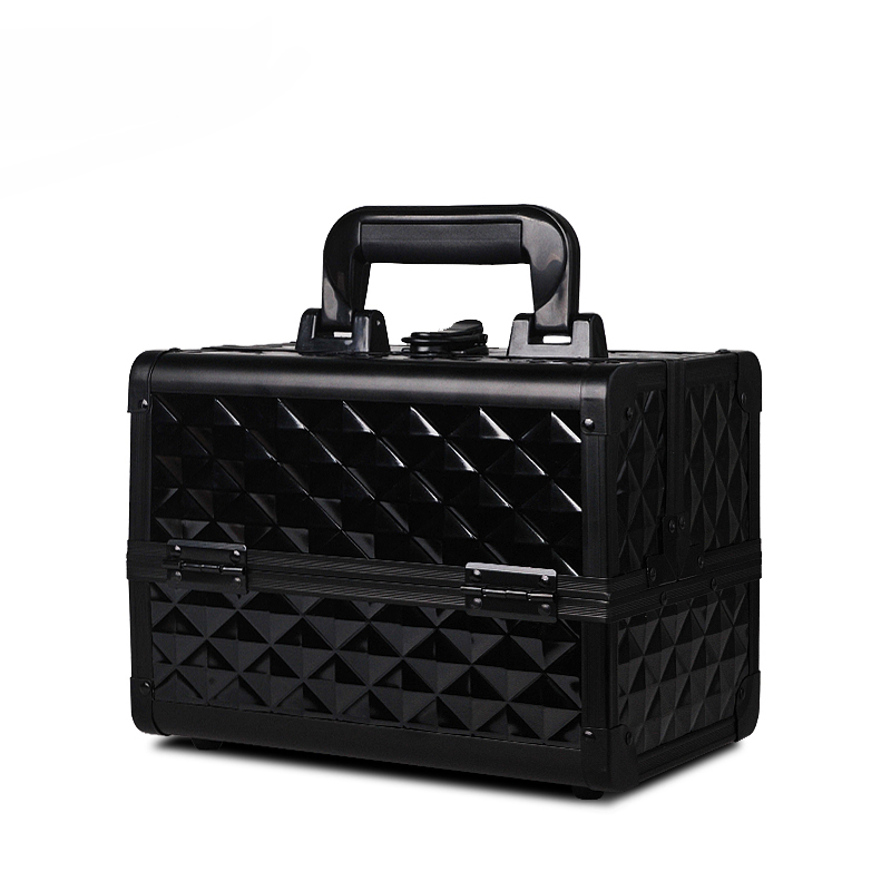 Cosmetic Case Hand Beauty Nail Embroidery Cosmetic Storage Box Case Make-Up Case Kit Household Large Capacity Lock Multi-storey цена 2017