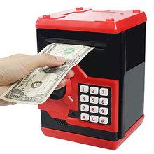 Cofre eletrônico de porquinho, cofre para dinheiro, moedas digitais, guardar dinheiro, presente de aniversário para crianças