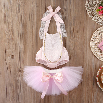 Baby Girl Infant Kid Priness cute Summer Clothes 2020 Girls Lace Floral Ruffle Romper+ bow Tutu Skirts 2pcs Outfits Set Clothes new arrival easter baby girls long sleeve cotton floral ruffle boutique romper tutu pink clothes bunny kids wear match bow kids