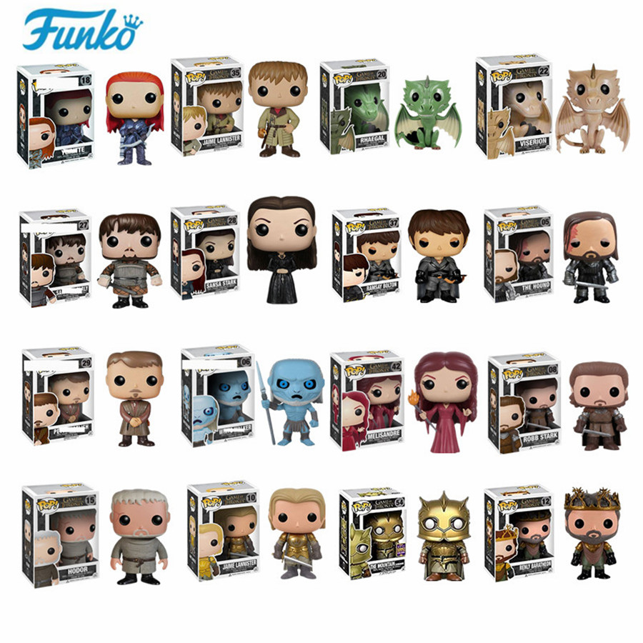 Funko pop Song Of Ice And Fire TV: Game of Thrones-Daenerys/Night King/Tyrion/Jon Snow/Cersei Action & Toy Figures Children Toys(China)