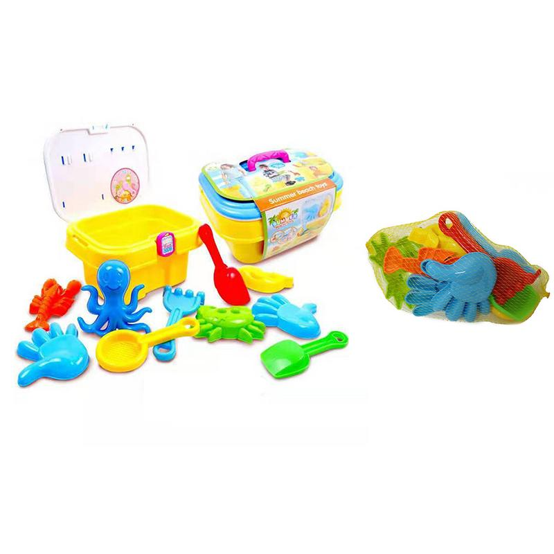 Summer Sand Digger Scoop Claw Beach Toy Set With Bucket Shovels Rakes Molds