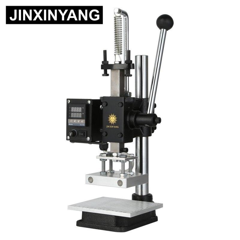 JINXINYANG машина для горячего тиснения фольгой ручная Бронзирующая машина для кожи и дерева брендинг тиснение термопресс машина