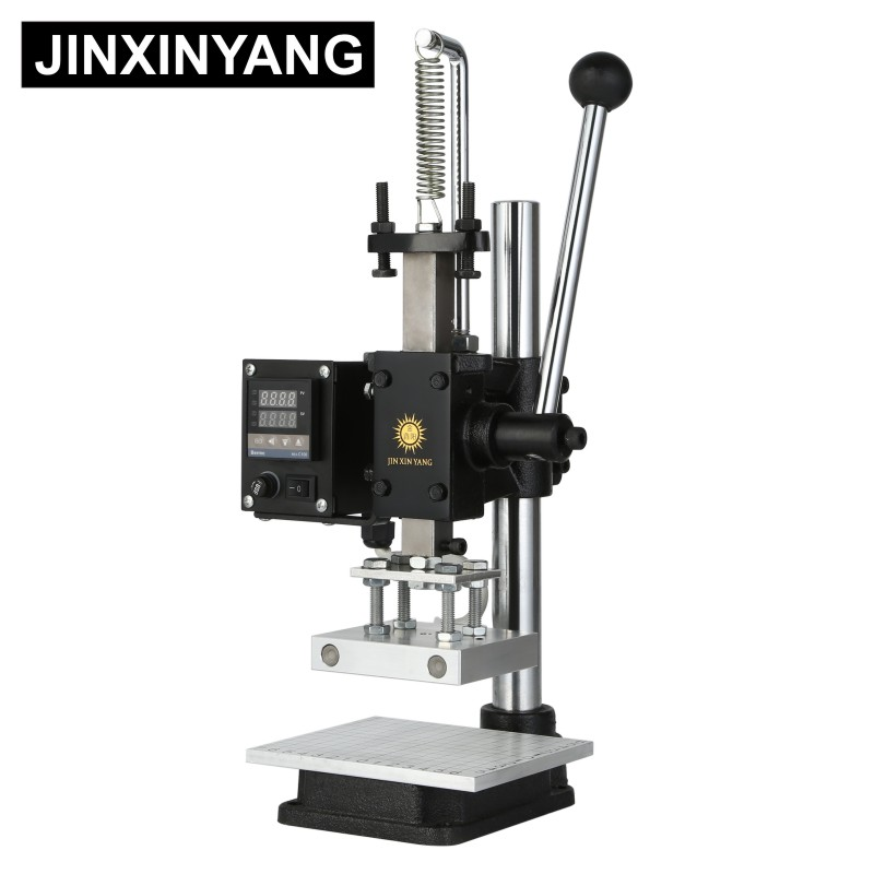 JINXINYANG Hot Foil Stamping Machine Manual Bronzing Machine For Leather And Wood Branding Embossing Heat Press Machine