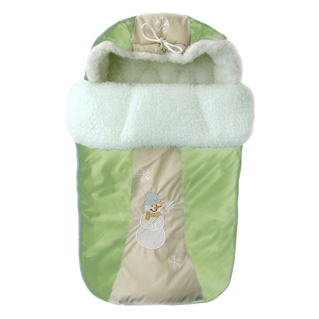1200 Envelope fur Snowflake (12004 green) rhinestone christmas snowflake brooch
