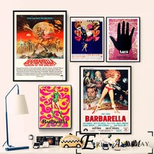 Barbarella Vintage Sci-fi Movie Poster Prints Oil Painting On Canvas Wall Art Murals Pictures For Living Room Decoration On Sale nars помада barbarella