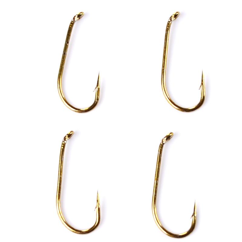 200pcs Fly Fishing Hooks 4 Sizes Fishing Trout Salmon Dry Fly Fishing Hook