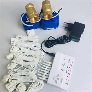 HIDAKA US EU Adaptor Wire House Alarme Water Leak Detector with 6m Motion Sensor and Alarm Control Unit(DN20*2pcs)BSP NPT thread - DISCOUNT ITEM  0% OFF All Category