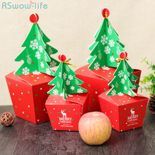 4 pcs Creative Christmas Candy Box Eve Apple Cosas De Navidad Para El Hogar For Gift To Friends
