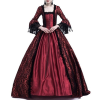 Women Medieval Vintage dress S~3XL Renaissance victorian Dress elegant lace Large Bell Sleeve Cosplay Costume party dresses lady