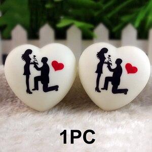 Image 4 - 1 pçs led colorido coração forma pequena noite luz amante propor casamento surpresa organizando decoração adereços dia dos namorados presente