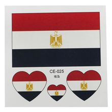 285164a30 JEYL Hot Rocooart 10PCS Russia Tattoo Stickers Football Stickers Waterproof  Flag Tattoo Stickers Heart-shaped