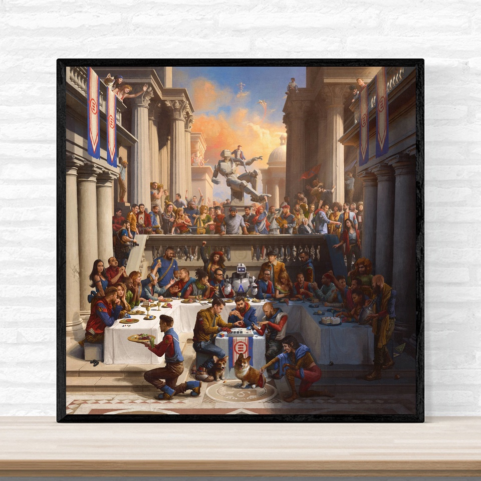 Logic Everybody Music Album Cover Poster Print On Canvas