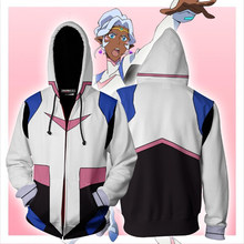 2019 New Autumn Winter 3D print Princess Allura Voltron Legendary Defender Cosplay Zip Up Hoodie Jacket clothing(China)