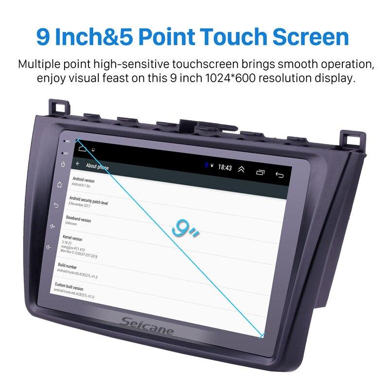 Seicane Android 8,1 2DIN автомобильный головное устройство радио аудио GPS мультимедийный плеер для Mazda 6 Rui wing 2008 2009 2010 2011 2012 2013 2014