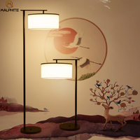 New Chinese floor lamp decorative Bedroom bedside lamp fabric lampshade standing lamp modern floor lamps decor lighting fixtures