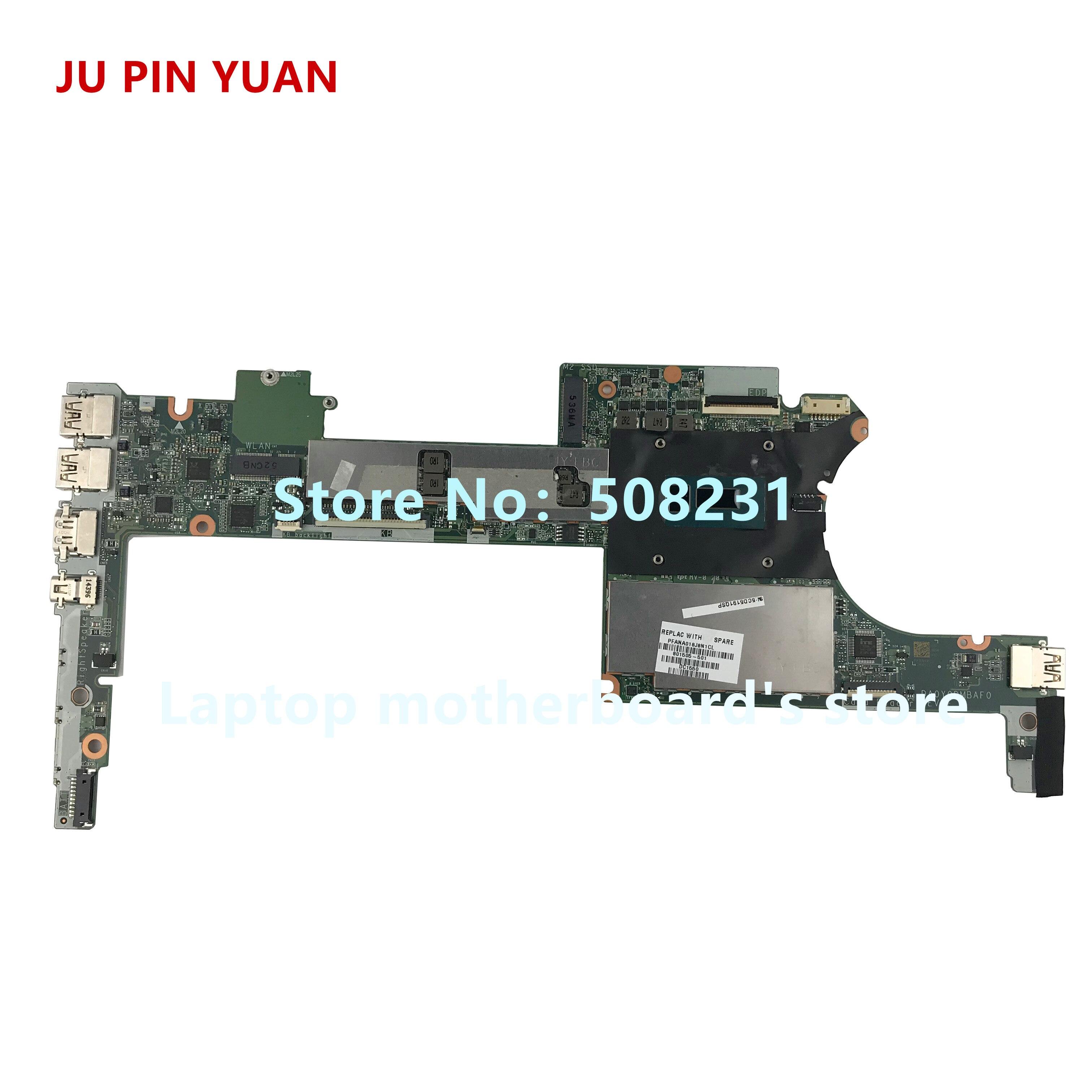 JU PIN YUANS 801505-501 801505-001 DA0Y0DMBAF0 pour HP Spectre X360 13-4000 Ordinateur Portable Carte Mère avec i7-5500U 8 gb entièrement Testé