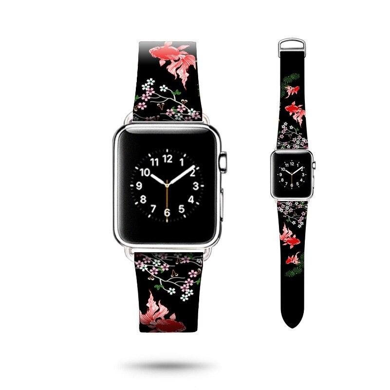 Pour Apple Montre Série 4 Véritable En Cuir Haletant Style bracelet de montre Pour Apple Montre Série 1 2 3 bracelet de montre Bracelet 38 mm-42mm