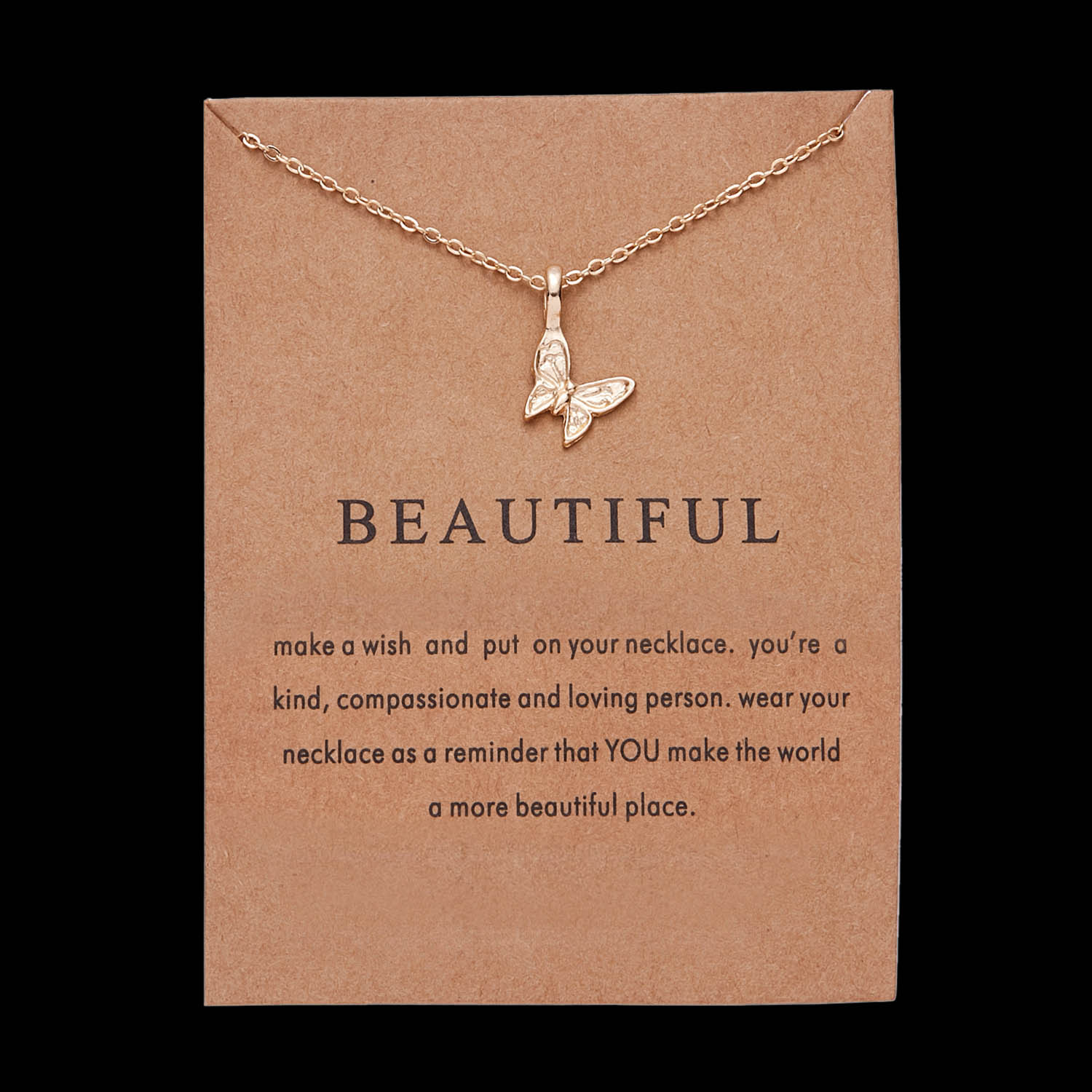 Karma Gold-color Three Circle Pearls of LOVE Good Luck Elephant Free Spirit dragonfly Beautiful butterfly Necklace