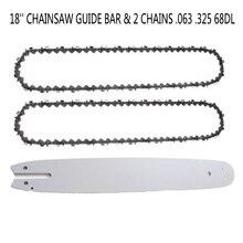 1 piezas motosierra guía Bar 18 con 2 piezas cadenas 063 325 68DL para Stihl MS 250 251 casa jardín herramienta accesorios suministros