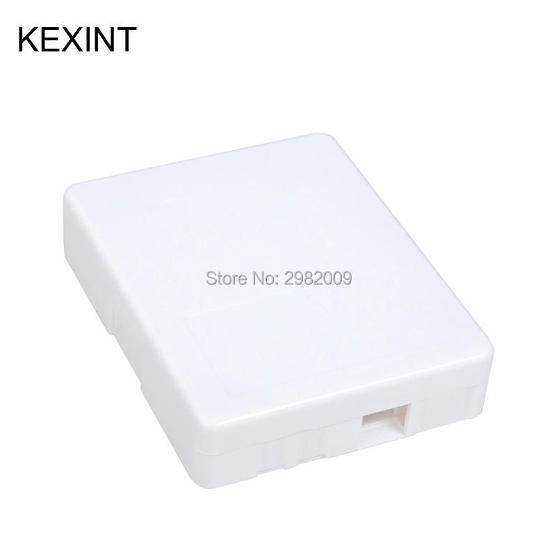 Wholesale 86 Type ABS PC Indoor FTTH SC Fiber Optic Face Plate Fiber MiNi Terminal Box  Without Pigtail And Adaptor/ 20pieces