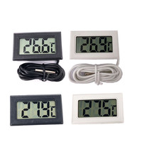 1 Pcs LCD Digital Thermometer Freezer Suhu-50 ~ 110 Derajat Kulkas Kulkas Thermometer