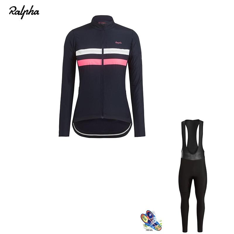 Ralvpha 2019 Women Cycling Jersey Set Winter Thermal Fleece Bike Clothing  Kit Triathlon Cycling Uniform Suit 97b600c4a