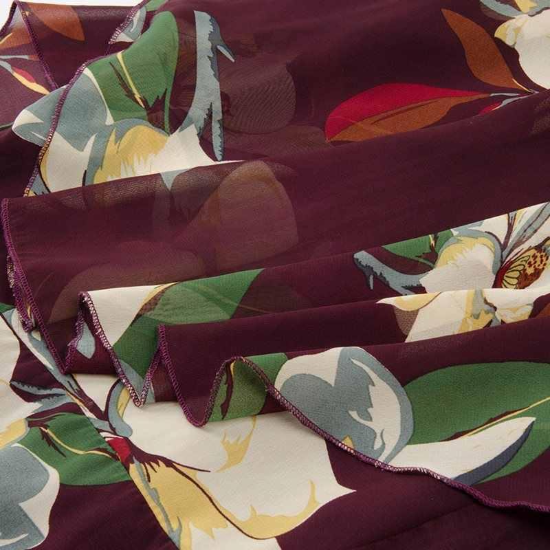 Sisjuly шифон Цветочный принт летнее платье больших размеров женская сексуальная сетка гофрированный синий Эле Винтаж повседневные миди-платья