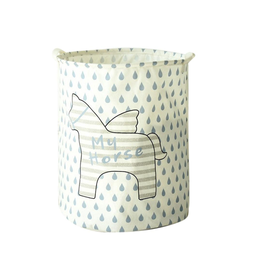 Clothes Storage Bin for Baby Nursery to Hold Baby Clothes Blankets Cylindrical Shape Towels Toys Indoor