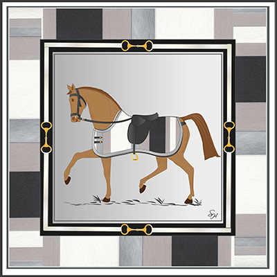 Cavallo Sciarpa per Le Donne 14 m/m Puro 100% Twill Di Seta Sciarpa 70*70 centimetri Al Collo Sciarpe Testa di Moda di Lusso disegno di marca Scialle Wrap Headban