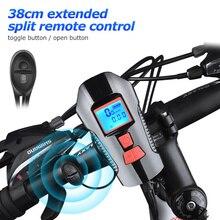 Водонепроницаемый велосипедный звонок с светильник, зарядка через usb, велосипедный передний светильник, вспышка, светильник на руль, велосипедный головной светильник, w/Horn speed Meter lcd