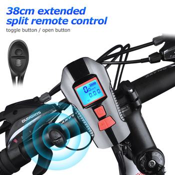 Waterproof Bicycle Front Light with USB Charging, Speed Meter and LCD Screen 10