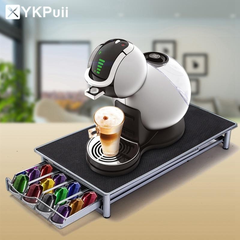 Нержавеющая сталь 36 чашек капсулы кофе Nespresso Pods держатель стойка для хранения Ящики кофейные капсулы Организация полок