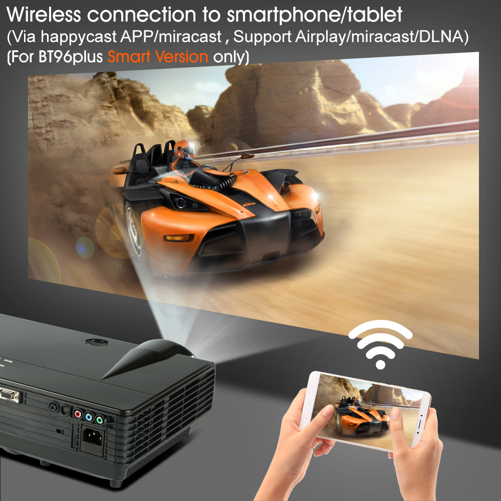BYINTEK MOON BT96Plus Hologram 200inch LED Video HD Projektor për - Audio dhe video në shtëpi - Foto 6