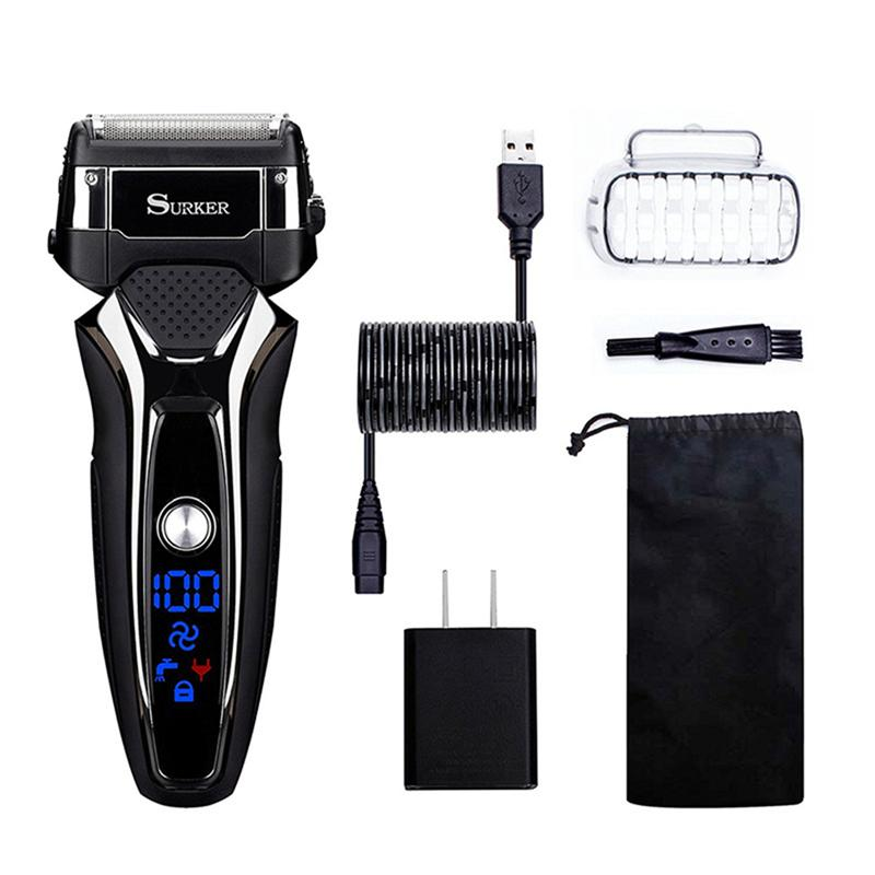 Bread Shaver Rechargeable Waterproof Electric Sidebums Trimmer Machine Shaving Machine Razor Shaver For Men Adults
