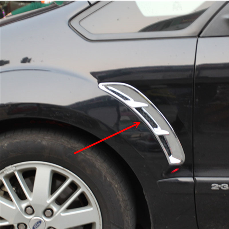 Car Styling Chrome Fender Évent Cover Version Pour Ford S-MAX SMAX 2007 2008 2009 2010 2011 2012