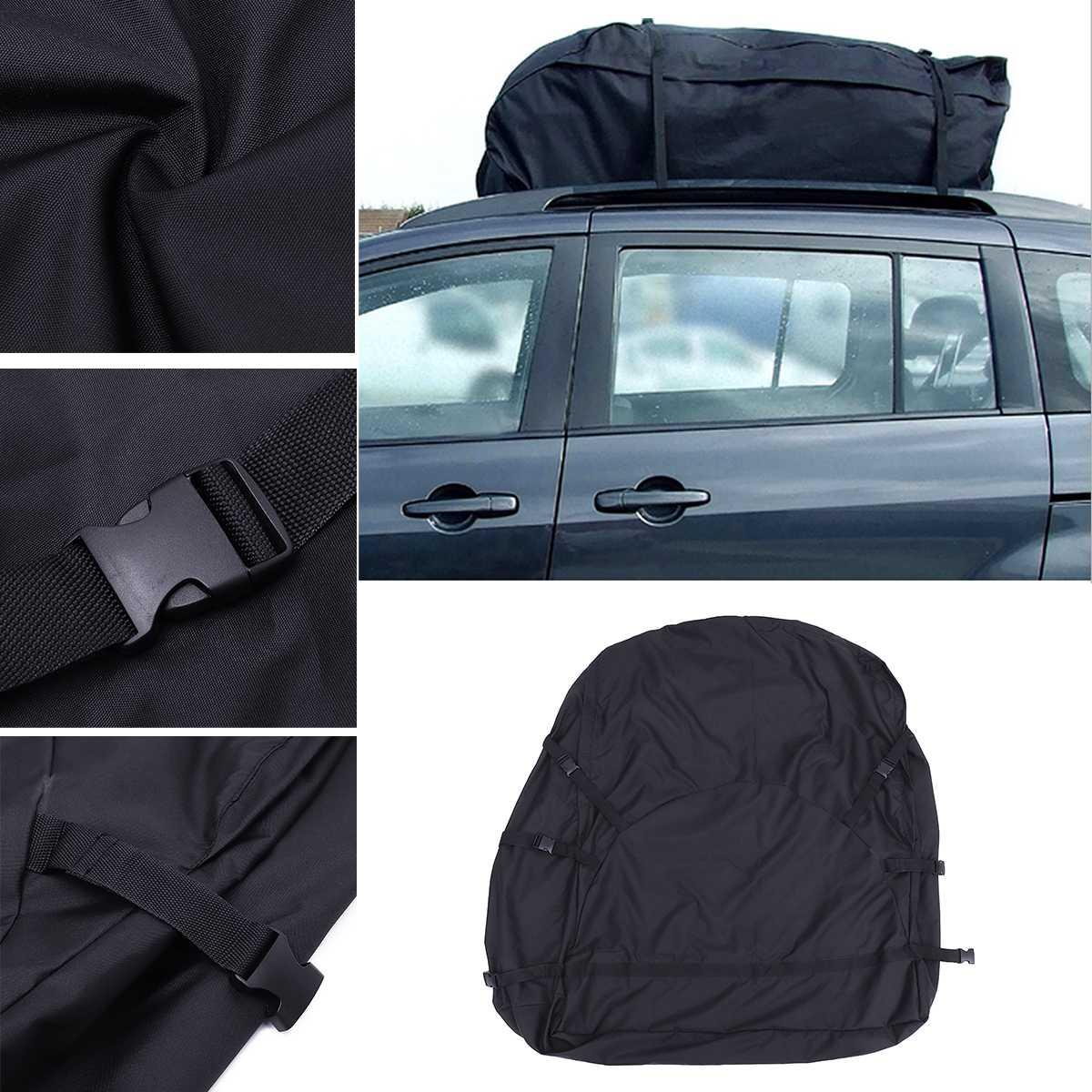 130X100X45 cm sac de toit de voiture sac de toit supérieur porte-bagages transporteur de bagages voyage étanche Touring SUV Van pour les voitures - 4
