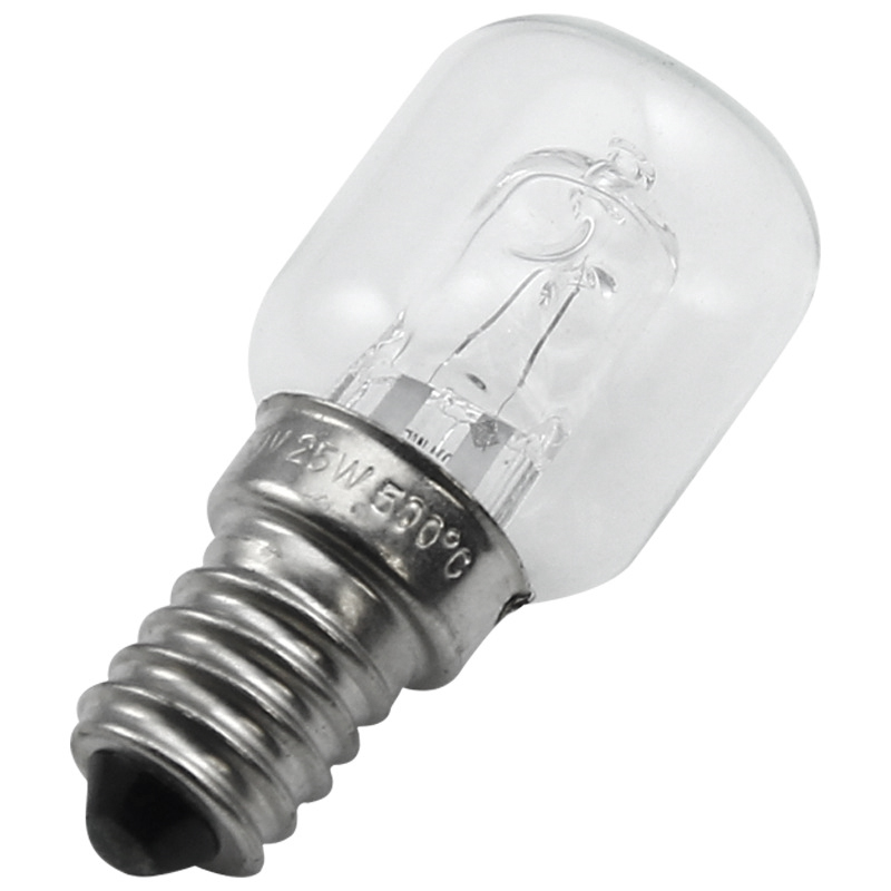 EAS-E14 High Temperature Bulb 500 Degrees 25W Halogen Bubble Oven Bulb E14 250V 25W Quartz Bulb