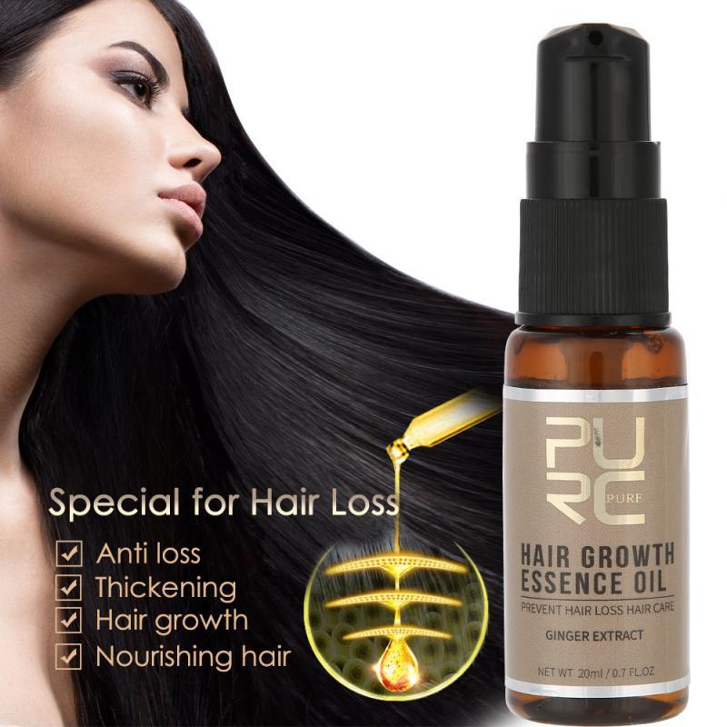 20ml Fast Hair Growth Essence Oil Liquid Ginseng Nourish ...