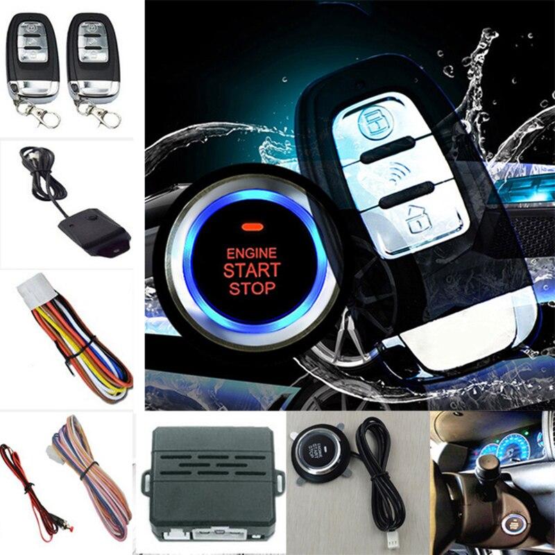 Bouton d'arrêt de démarrage de voiture bouton de démarrage par bouton poussoir alarme de Vibration verrouillage des systèmes de sécurité télécommande