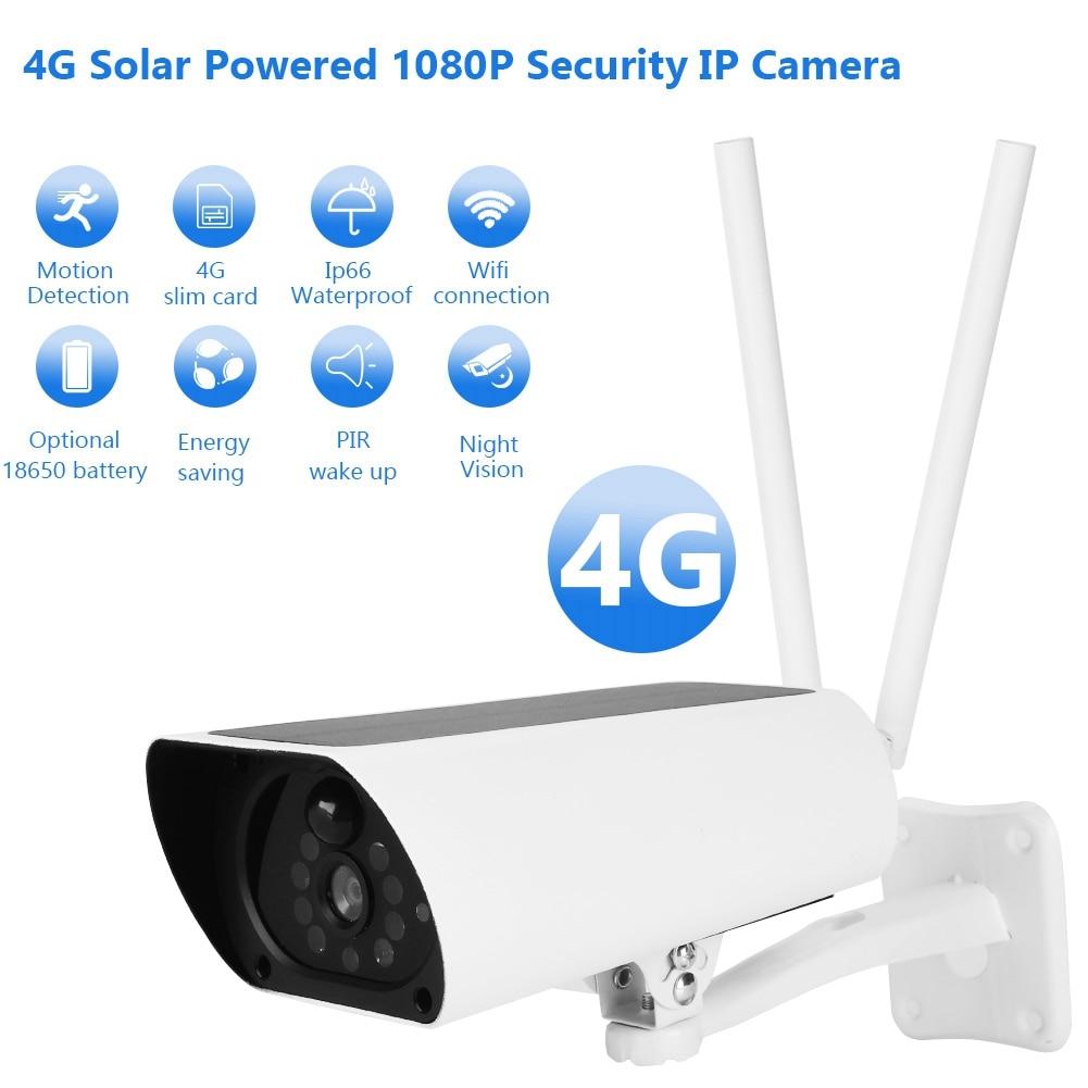 IP Camera 4G Solar Powered 1080P IP Camera Outdoor Waterproof CCTV Night Vision Security Camera Camara Vigilancia Exterior