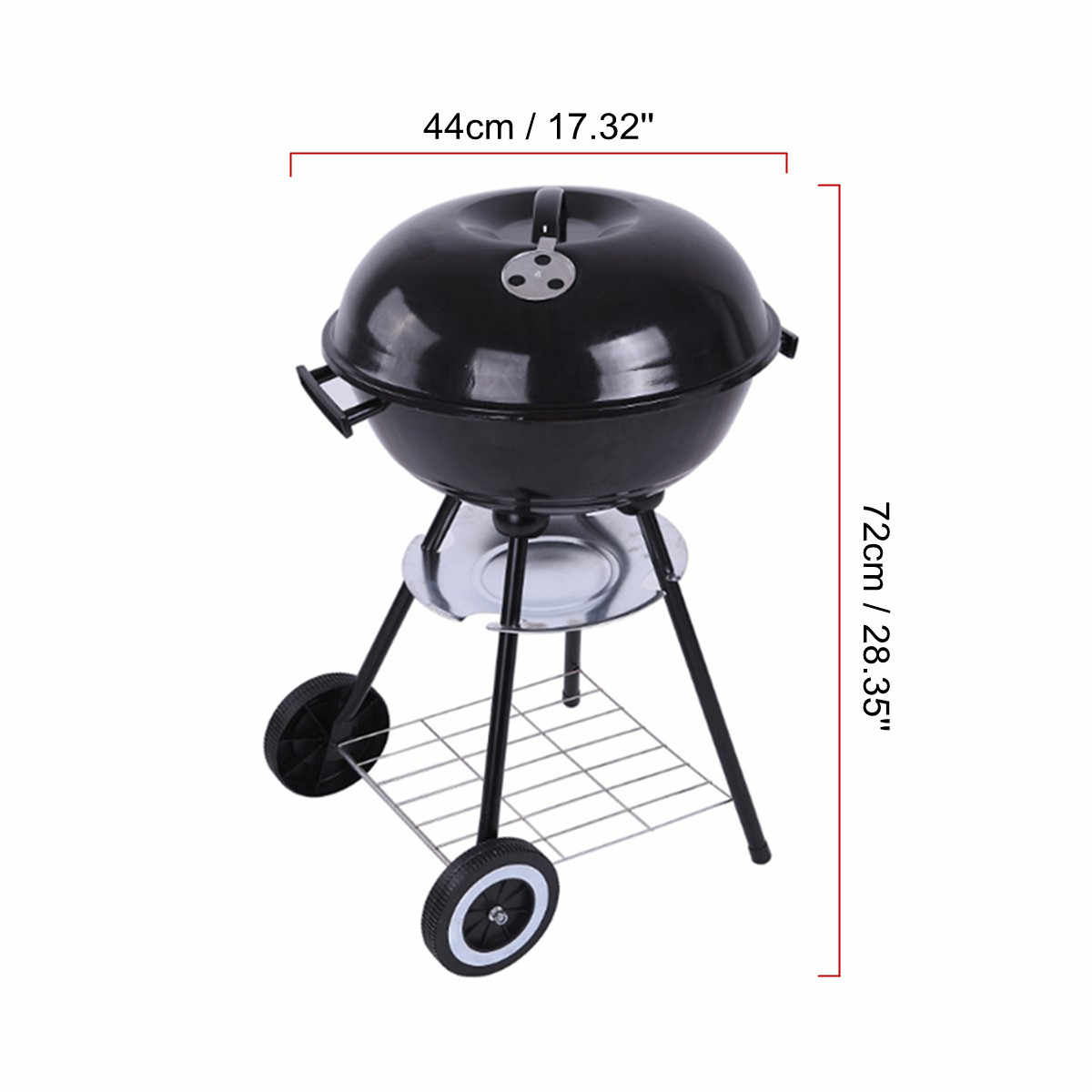 """Металл 17 """"Мангал яма открытый походная плита баров двора оборудование для барбекю Кухонные кухонные инструменты принадлежности для барбекю"""