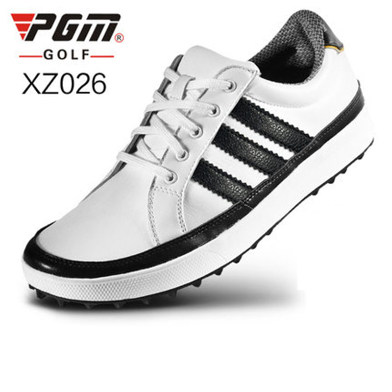 Zapatos De Golf New Genuine Pgm Golf Shoes Ultra Soft Microfiber Leather Waterproof Super Stable Non-slip Grip Bottom Location