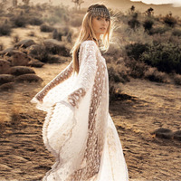 MUXU vestidos patchwork bohemian white lace dress sexy transparent sukienka fashion kleider summer boho clothing sukienka summer