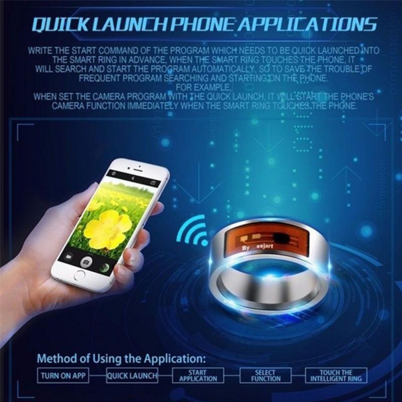 NFC Multifunctional Waterproof Intelligent Smart Ring 2